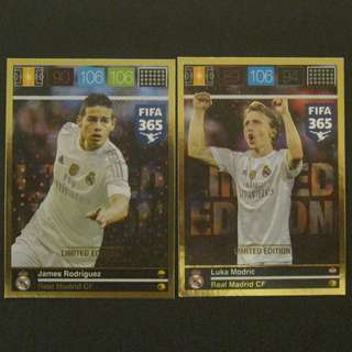 15/16 Panini Adrenalyn FIFA 365 Limited Edition #Real Madrid