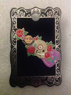 Hard Rock Cafe Pins - LAS VEGAS HOT 2012 DAY OF THE DEAD SUGAR SKULL GUITAR PIN!