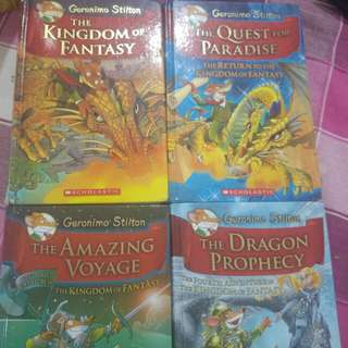 Geronimo Stilton Kindom of fantasy books 1-4