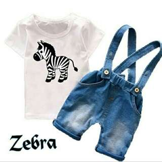 Kid st jump zebra denim