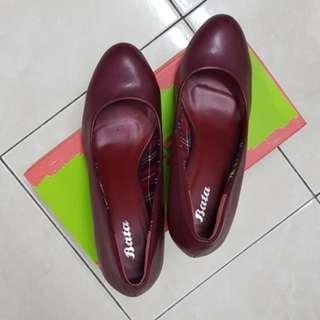 BATA red high heels women