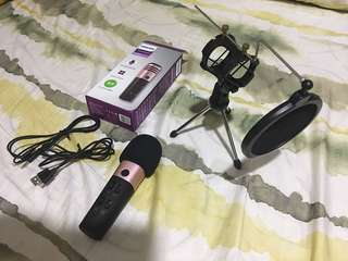 Affordable Original Philips Microphone for pc cellphone laptop with pop filter and mic stand in quezon city