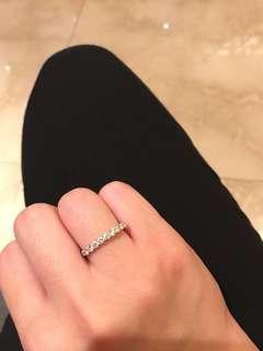 18K白金 鑽石介指