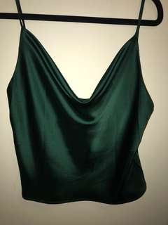 Emerald green Cowel Neck Top