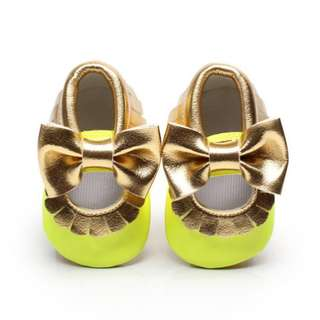Soft Sole Crib Bow Shoes