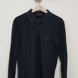 Lacoste black long sleeve shirt