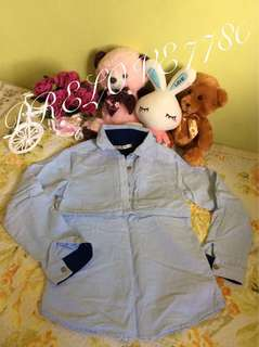 #bajet20 Denim blouse long sleeve kids