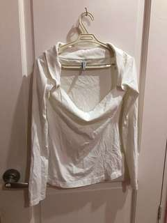 Terranova White Sabrina Cut Top