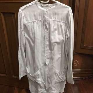 Zara gray semi-sheer long top/short dress