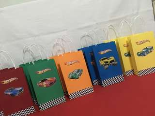 Hot Wheels Paper Bag or Goodie Bag
