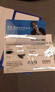 Ed Sheeran Gold tickets