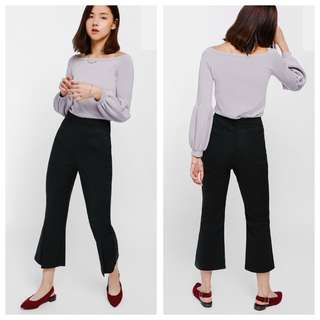 (S) LB Fiolyn Slit Cropped Flare Pants