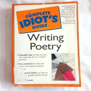 The Complete Idiot's Guide to Writing Poetry: CIG to Writing Poetry by Nikki Moustaki
