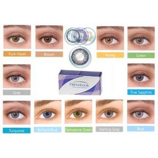 Freshlook colorblends contact lenses grey, pure hazel, blue