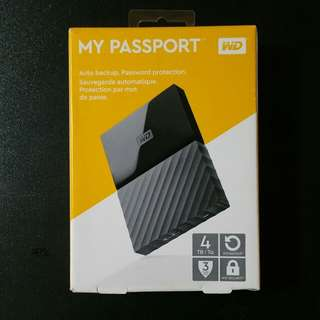WD my passport 4TB