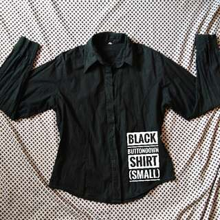 Black Button-down Shirt