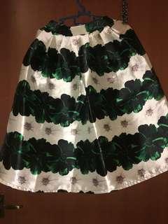 Knee length floral skirt for sale!