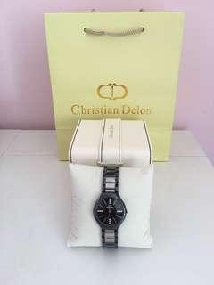 Christian Delon 女裝鋼帶手錶