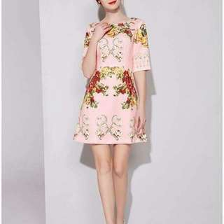 Brand new 3D Full Floral Elegant Dress