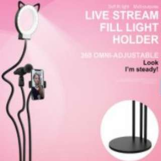 3 in 1 table top ring light, phone and mic holder free courier
