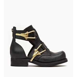 Jeffrey Campbell Roscoe Cut Out Boots in Black Dist