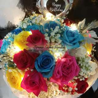 Mother day Bouquet/Flower bouquet/hand bouquet/birthday bouquet/anniversary bouquet/proposal bouquet