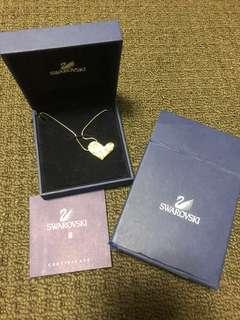 Heart studded Swarovski necklace