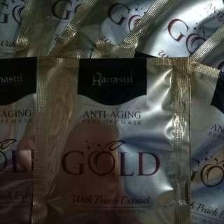 Masker Hanasui Gold Anti-Aging