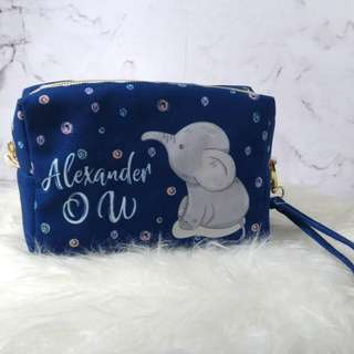 Personalised 3in1 canvas pouch, clutch & sling bag