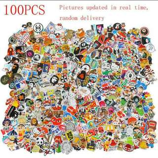 🐾100 pc waterproof and high quality Laptop luggage stickers !!