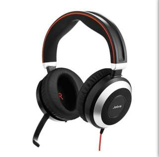 Jabra Evolve 80 MS Stereo Active Noise Cancellation Headset