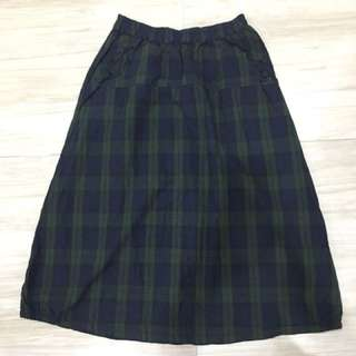 韓版格子長裙