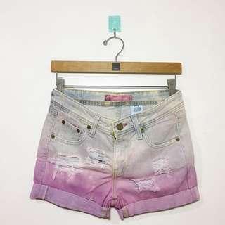 DIY ombre shorts