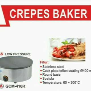 Mesin CREPES BAKER GAS,garansi 1th