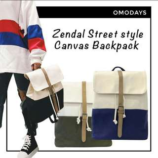 (Free normal mail) Korean Zendal Backpack Streetstyle