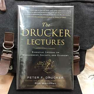 # Highly Recommended《Bran-New + Hardcover Edition + Unpublished Collections Talks》Peter F. Drucker & Rick Wartzman - THE DRUCKER LECTURES : Essential Lessons on Management, Society, and Economy