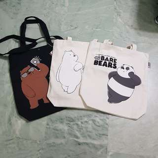 We Bare Bear-Canvas Tote Bag