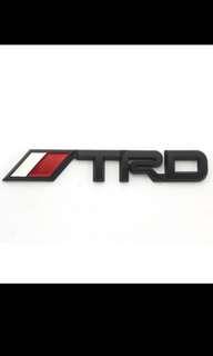 Toyota ABS TRD Black Emblem