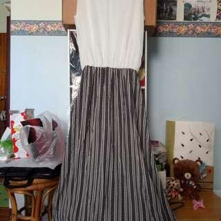 長洋裝 無袖洋裝 氣質款 連身裙 長裙