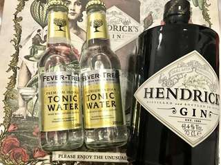 HENDRICK's GIN 4.14% Vol. 70CL w/tonic Water