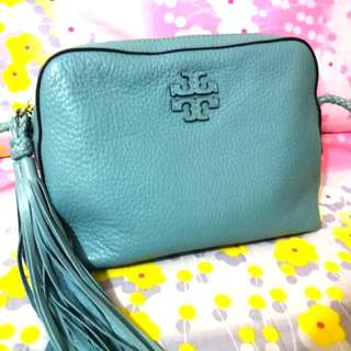 Tory Burch Cross body bag soft leather - blue