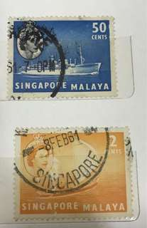 Stamps in a set
