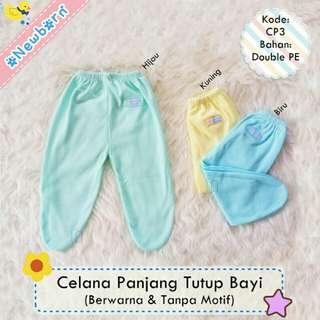 3 pcs celana panjang tutup bayi newborn jumbo
