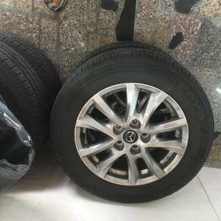 Mazda3 (15年)原廠胎+鋁框(4顆)(16寸)
