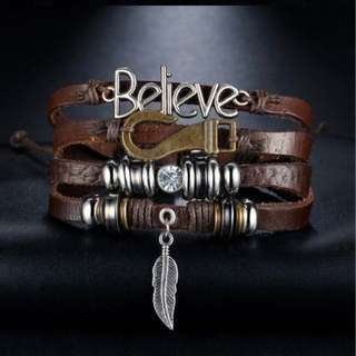 Men/Women Believe Vintage Bracelet