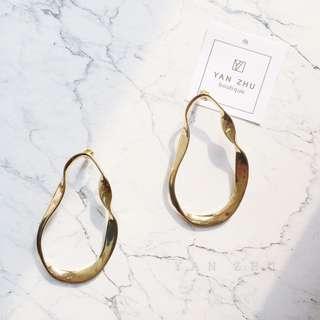 [Y A N  Z H U]歐美街拍金屬幾何簡約大耳環 現貨+預購