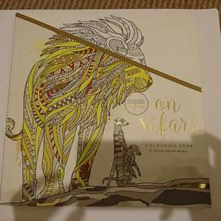 On safari coloring book