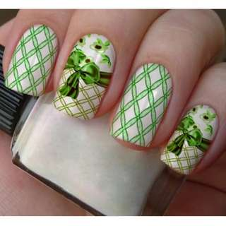 WATER DECAL NAIL STICKER FULL COVER FLOWER HIGH HEEL SHOES BOW TIE CORSET BELT A001-006
