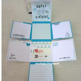 Birthday Wallet Scrapbook Card