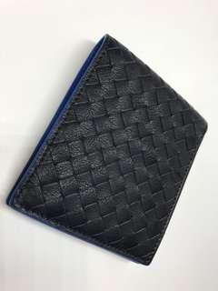 Bottega Veneta 男裝銀包雙色 手工織皮 全新購自意大利